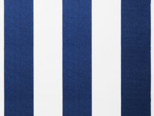 Blue and white polyester cover for 2m x 1.5m awning includes valance